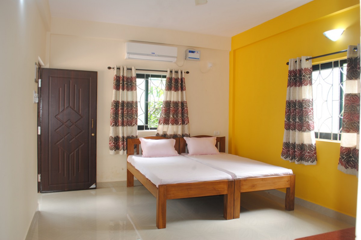 Lemondrop Twin Bedded Room with Open Terrace