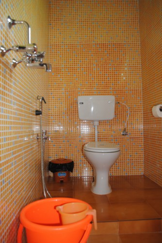 Orange Washroom